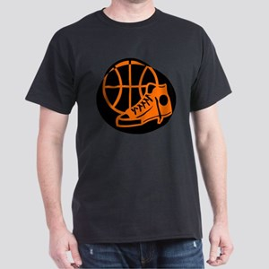 BASKETBALL *32* [orange} Dark T-Shirt
